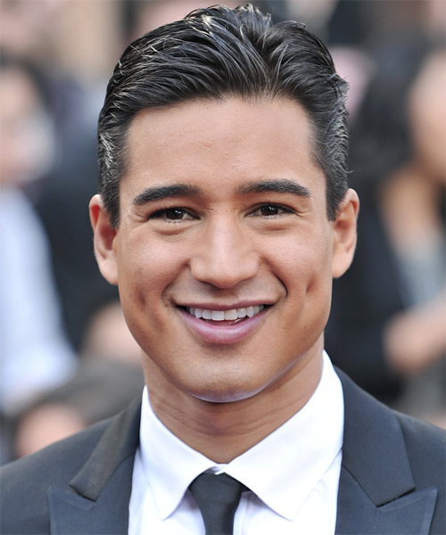 Mario Lopez Short Straight Hairstyle - Black (Mocha)