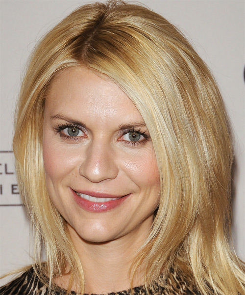 Claire Danes Medium Straight Casual Hairstyle - Medium Blonde (Golden) Hair Color