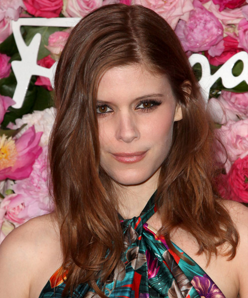 Kate Mara Long Straight Hairstyle - Dark Red (Auburn)