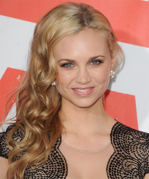 Fiona Gubelmann Long Curly Hairstyle - Dark Blonde (Golden)
