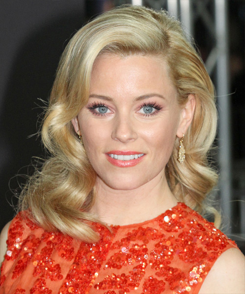Elizabeth Banks Long Wavy Hairstyle - Light Blonde (Golden)