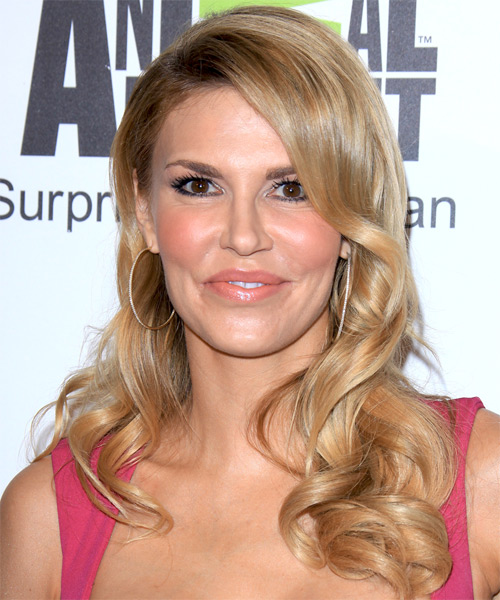 Brandi Glanville Long Wavy Formal Hairstyle - Dark Blonde Hair Color