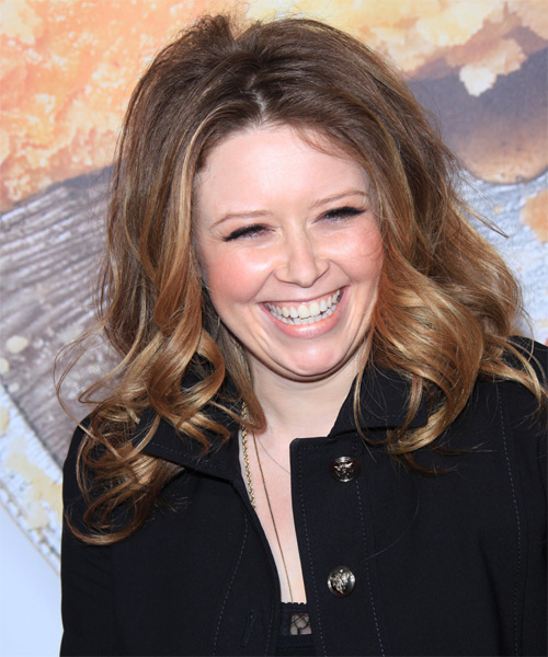Natasha Lyonne Long Curly Casual Hairstyle - Medium Brunette (Chestnut) Hair Color