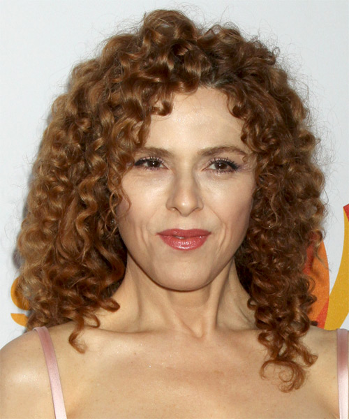 Bernadette Peters Medium Curly Hairstyle - Light Red (Copper)