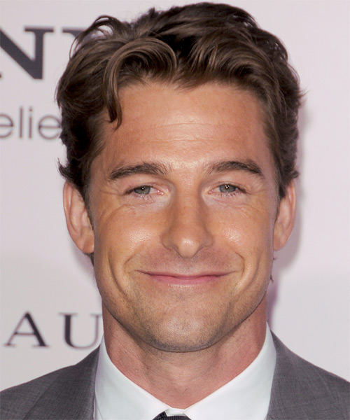 Scott Speedman Short Straight Hairstyle - Dark Brunette (Chocolate)