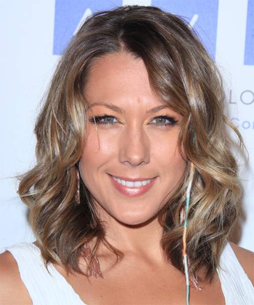 Colbie Caillat Medium Wavy Hairstyle - Light Brunette (Ash)