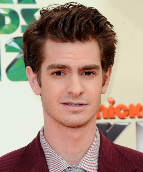 Andrew Garfield Short Straight Hairstyle - Dark Brunette