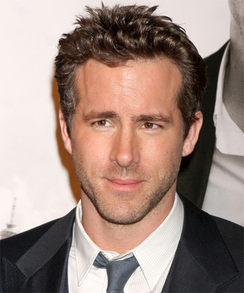 Ryan Reynolds Short Wavy Hairstyle - Dark Blonde
