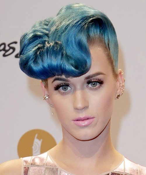 Katy Perry - Formal Updo Medium Curly Hairstyle