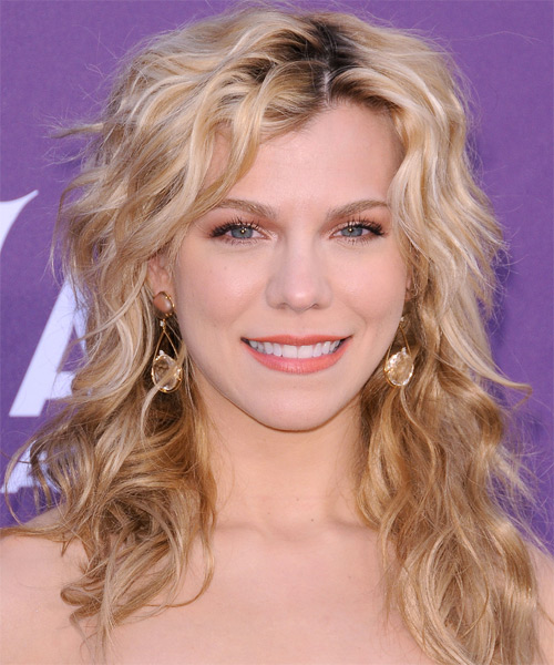Kimberly Perry Long Wavy Shag Hairstyle - Dark Blonde