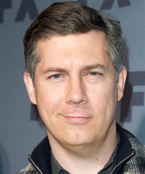 Chris Parnell Short Straight Hairstyle - Light Brunette (Salt and Pepper)
