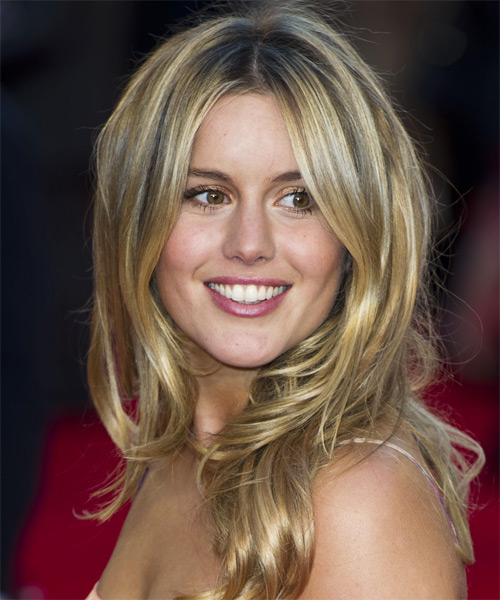 Caggie Dunlop Long Straight Hairstyle - Dark Blonde