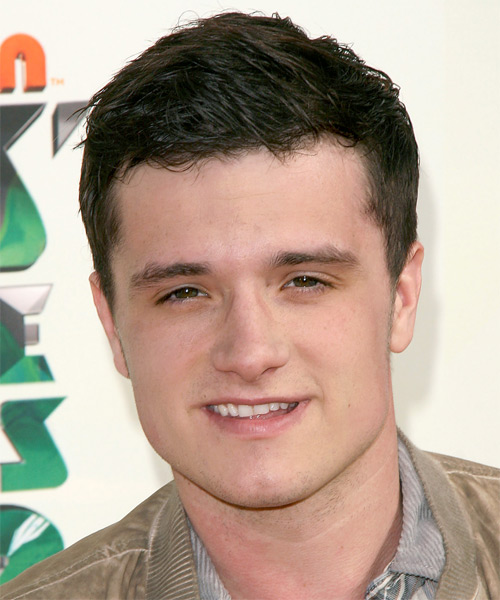 Josh Hutcherson Short Straight Hairstyle - Dark Brunette