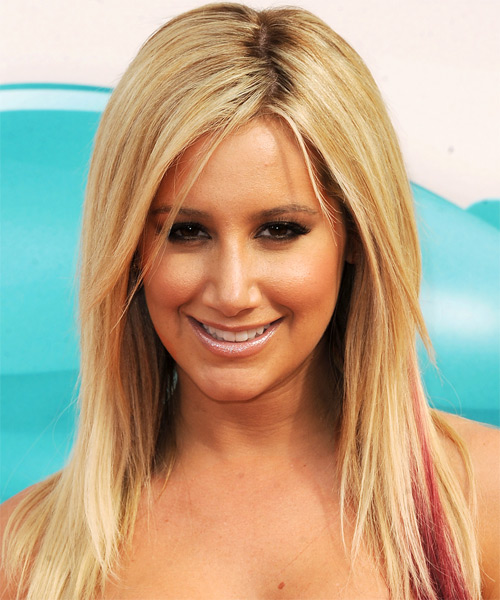 Ashley Tisdale Long Straight Casual Hairstyle - Medium Blonde (Golden) Hair Color