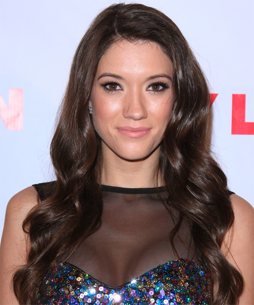 Blair Fowler Long Wavy Hairstyle - Dark Brunette (Mocha)
