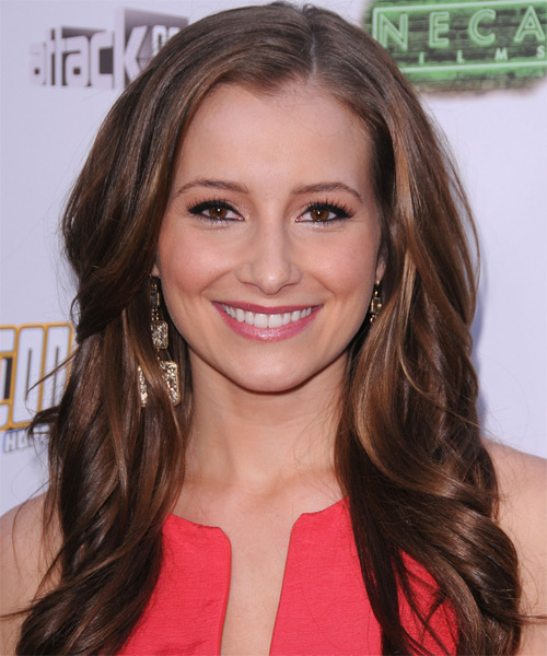 Candace Bailey Long Straight Casual Hairstyle - Medium Brunette (Chocolate) Hair Color