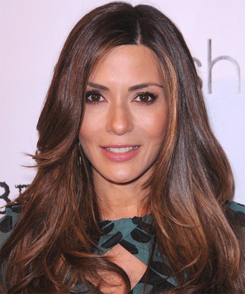 Marisol Nichols Long Straight Hairstyle - Dark Brunette (Chocolate)