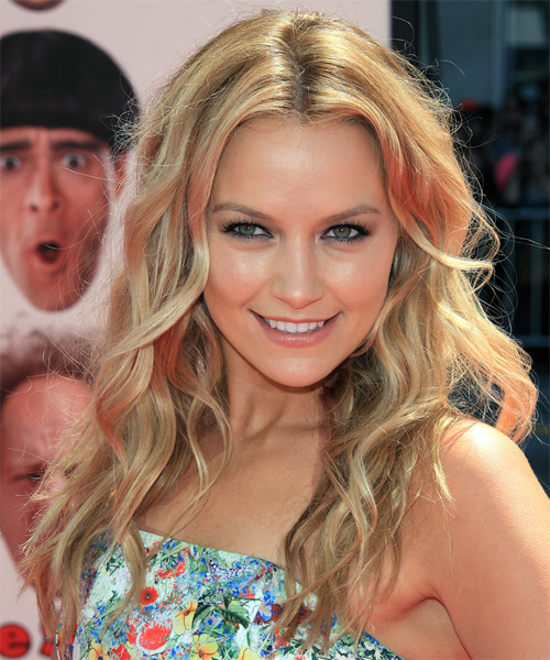 Becki Newton Long Wavy Casual Hairstyle - Medium Blonde (Champagne) Hair Color
