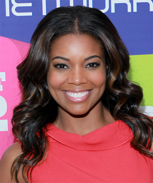 Gabrielle Union Long Wavy Hairstyle - Black