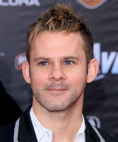 Dominic Monaghan Short Straight Hairstyle - Dark Blonde