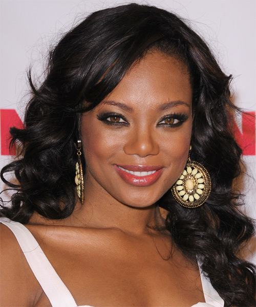 Tiffany Hines Long Wavy Formal Hairstyle - Black Hair Color