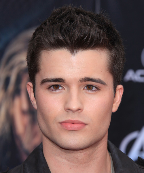 Spencer Boldman Short Straight Hairstyle - Dark Brunette