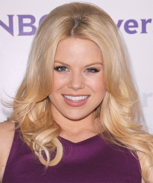 Megan Hilty Long Straight Formal Hairstyle - Light Blonde Hair Color