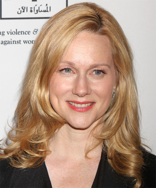 Laura Linney Long Straight Formal Hairstyle - Light Blonde (Champagne) Hair Color