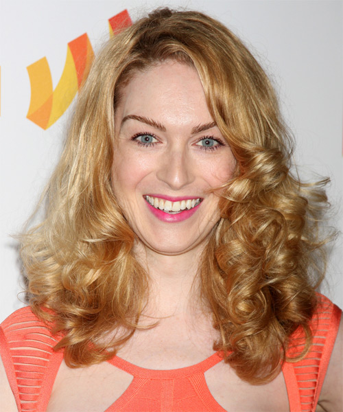 Jamie Clayton Long Curly Hairstyle - Medium Blonde (Golden)