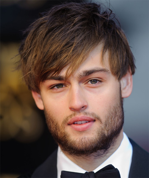 Douglas Booth Short Straight Casual Hairstyle - Medium Brunette Hair Color