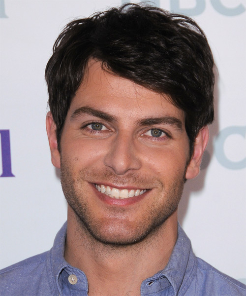 David Giuntoli Short Straight Casual Hairstyle - Dark Brunette Hair Color
