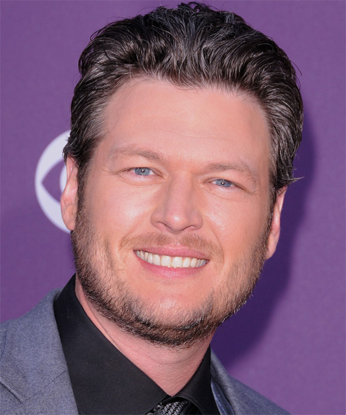 Blake Shelton Short Straight Hairstyle - Dark Brunette (Ash)