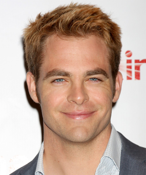 Chris Pine Short Straight Hairstyle - Medium Blonde (Copper)