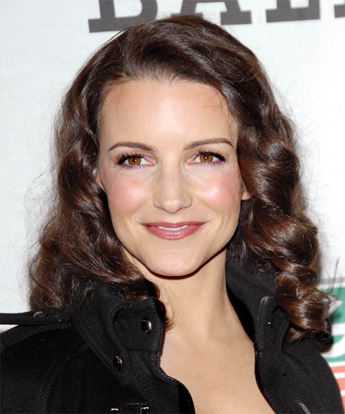 Kristin Davis - Casual Long Wavy Hairstyle