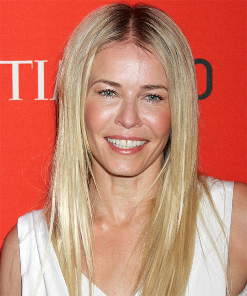 Chelsea Handler Long Straight Hairstyle - Light Blonde