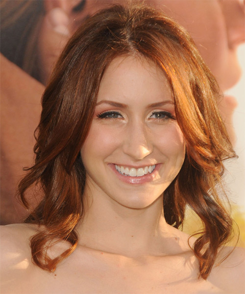 Courtney Clarke  Medium Wavy Casual Hairstyle - Light Brunette (Copper) Hair Color
