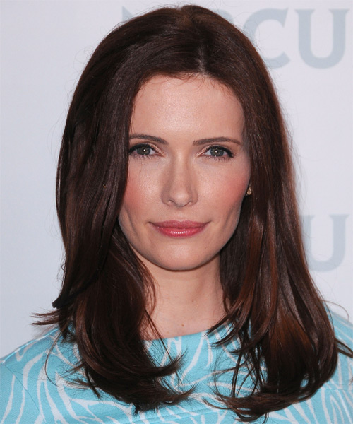 Bitsie Tulloch  Long Straight Hairstyle - Dark Brunette (Mocha)