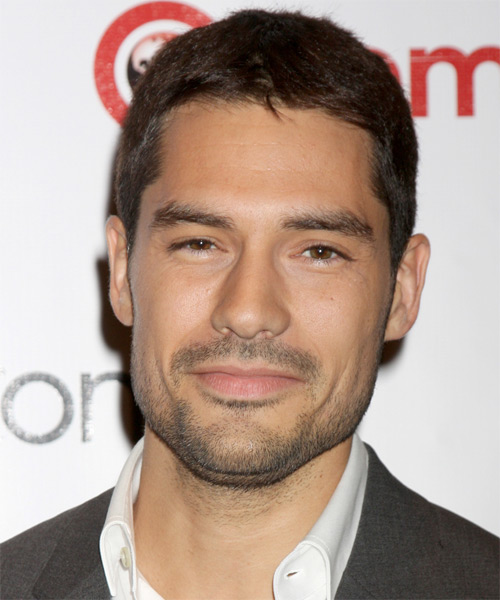 D.J. Cotrona Short Straight Hairstyle - Medium Brunette