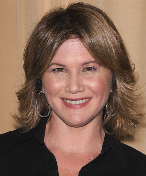 Tracey Gold Medium Straight Casual Hairstyle - Light Brunette (Ash) Hair Color