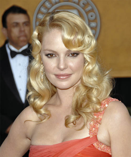 Katherine Heigl Long Wavy Formal Hairstyle
