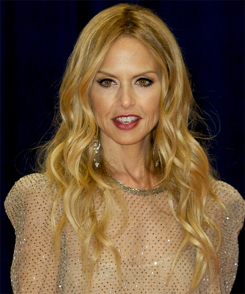 Rachel Zoe Long Wavy Hairstyle - Medium Blonde (Golden)