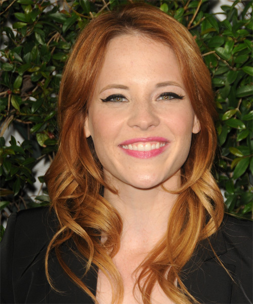 Katie Leclerc Long Wavy Hairstyle - Medium Red (Copper)