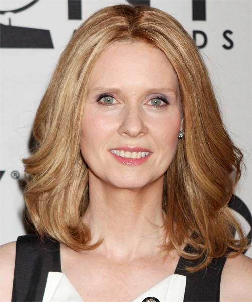 Cynthia Nixon Medium Straight Hairstyle - Medium Blonde (Copper)