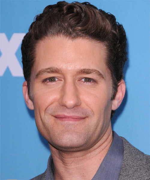 Matthew Morrison Short Wavy Formal Hairstyle - Dark Brunette Hair Color