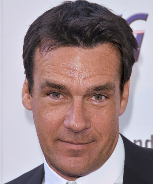 David James Elliott Short Straight Casual Hairstyle - Medium Brunette Hair Color