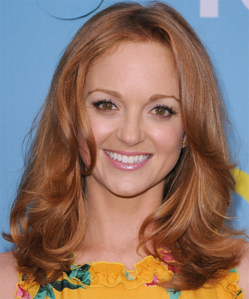 Jayma Mays Medium Straight Casual Hairstyle - Light Brunette (Copper) Hair Color