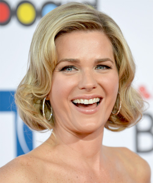 Sonya Smith Short Wavy Formal Bob Hairstyle - Medium Blonde Hair Color