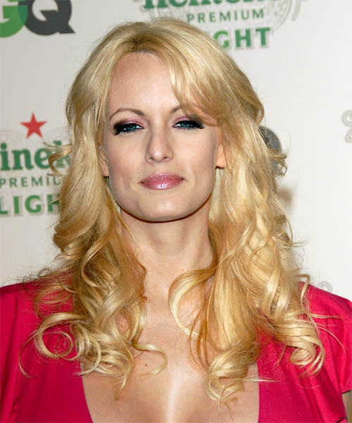 Stormy Daniels Long Wavy Formal Hairstyle