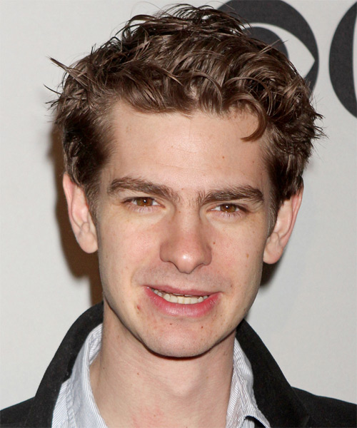 Andrew Garfield Short Straight Hairstyle - Light Brunette (Chocolate)