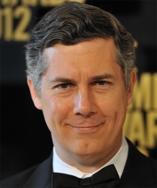 Chris Parnell Short Wavy Hairstyle - Dark Grey